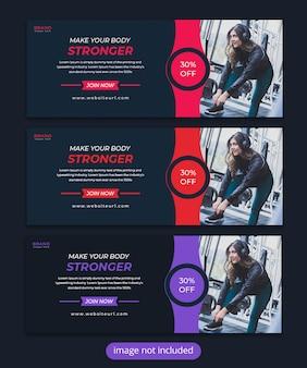 Modèle de couverture facebook fitness