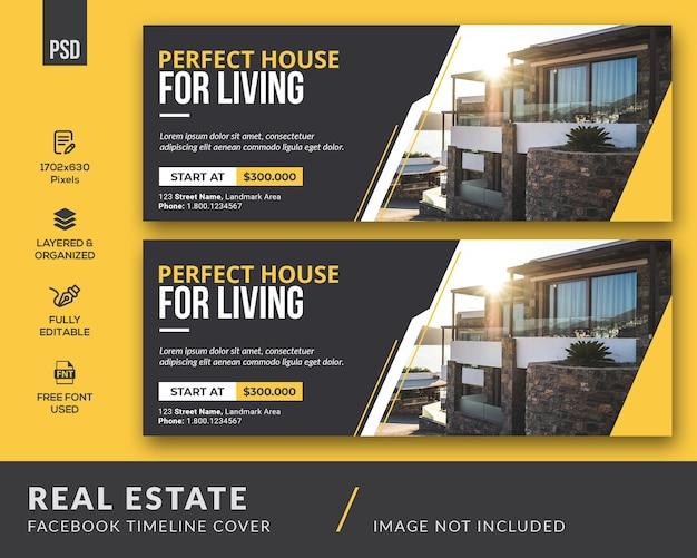 Modèle de couverture facebook immobilier