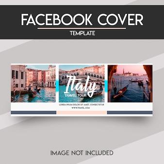 Modèle de couverture facebook de médias sociaux
