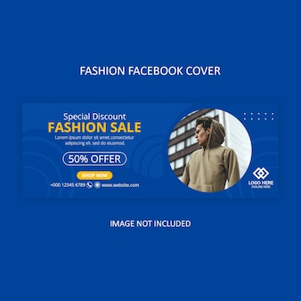 Modèle de couverture facebook de mode