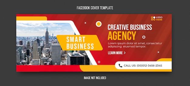Modèle de couverture facebook moderne d'agence