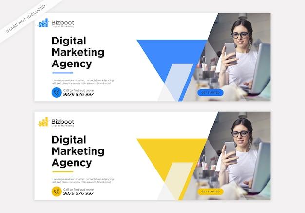 Modèle de couverture facebook pour la promotion du marketing d'entreprise numérique