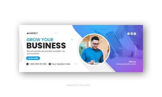 Modèle de couverture facebook promotionnelle ou de bannière publicitaire web pour agence de marketing numérique