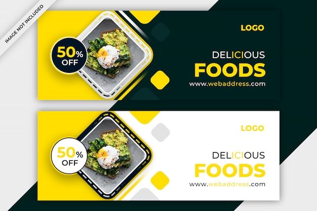 Modèle de couverture facebook de restaurant promotionnel