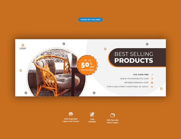 Modèle de couverture facebook vente de meubles psd premium