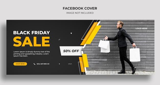 Modèle de couverture de médias sociaux et de bannière web black friday vente