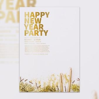 Modèle de couverture de nouvel an élégant