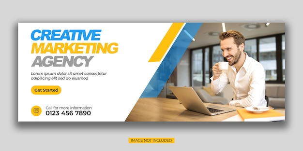 Modèle de couverture de promotion commerciale et de médias sociaux d'entreprise