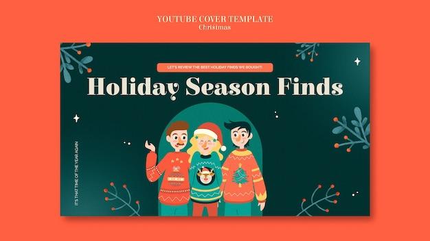Modèle de couverture youtube de la saison des pulls de célébration