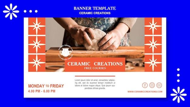 Modèle de créations en céramique de bannière
