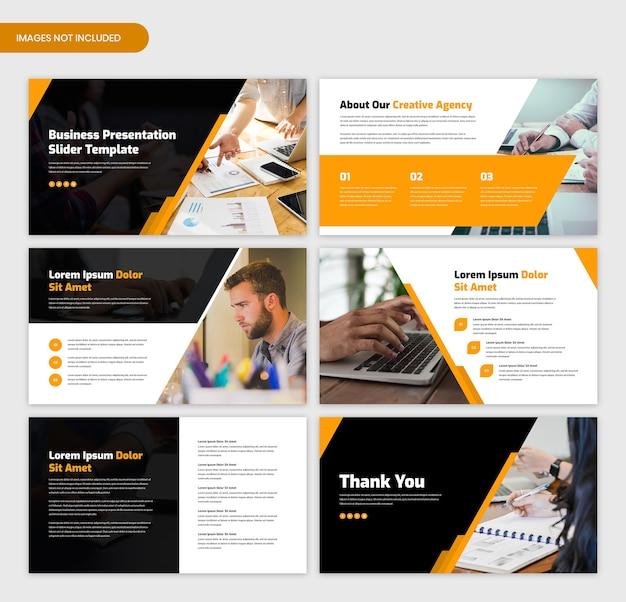 Modèle de curseur de présentation d'entreprise minimal