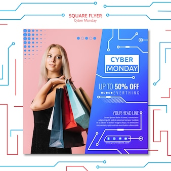 Modèle de cyber lundi de flyer