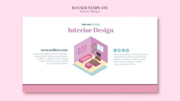 Modèle de design d'intérieur de bannière