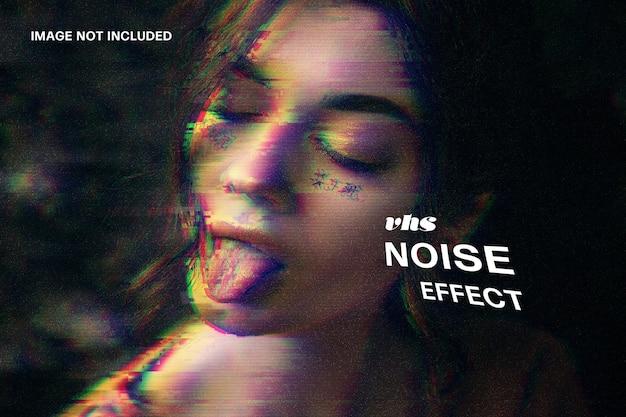 Modèle d'effet photo de bruit vhs