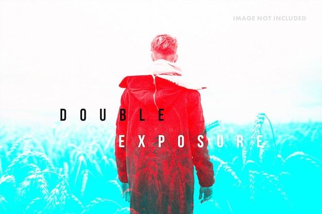 Modèle d'effet photo double exposition
