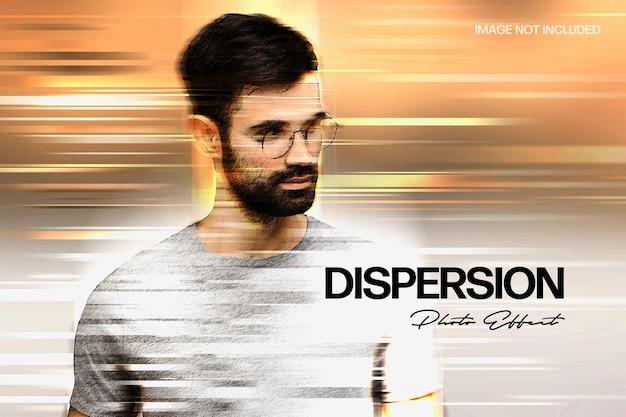 Modèle d'effet de photo de téléportation de dispersion