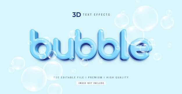 Modèle d'effet de style de texte 3d bulle