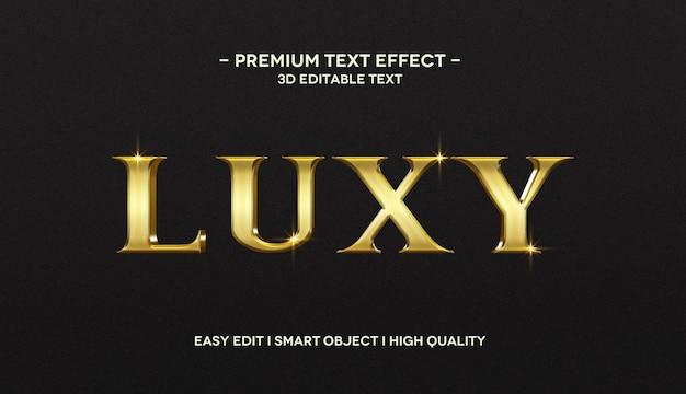 Modèle d'effet de style de texte 3d luxy