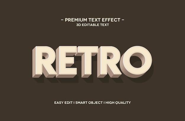 Modèle d'effet de style de texte 3d rétro
