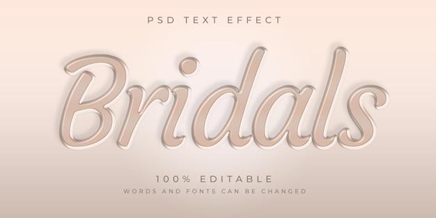 Modèle d'effet de style de texte bridals