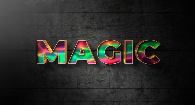 Modèle D'effet De Style De Texte Magique PSD Premium