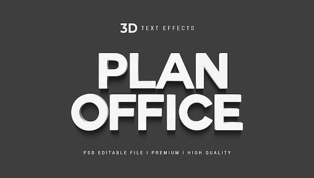 Modèle d'effet de style de texte plan office