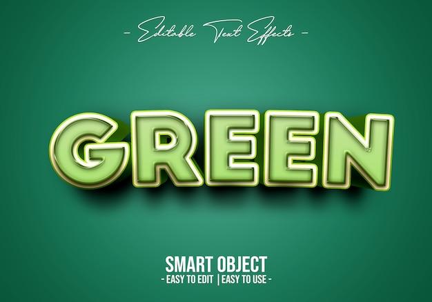Modèle d'effet de style de texte vert