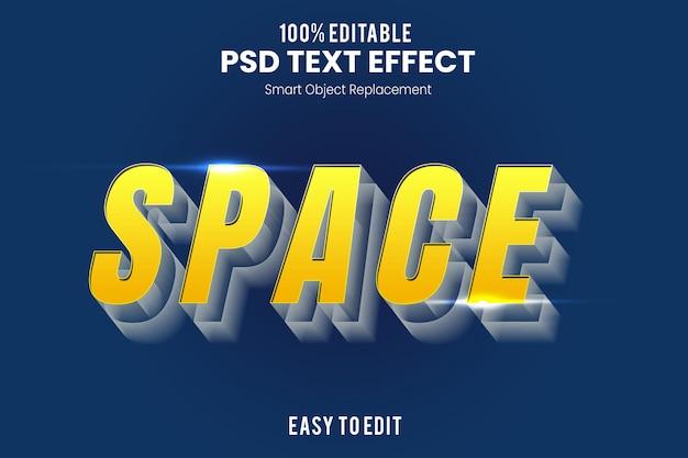 Modèle d'effet de texte 3d de l'espace