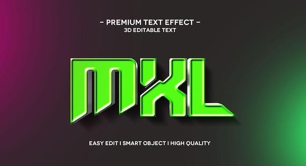 Modèle d'effet de texte 3d mxl
