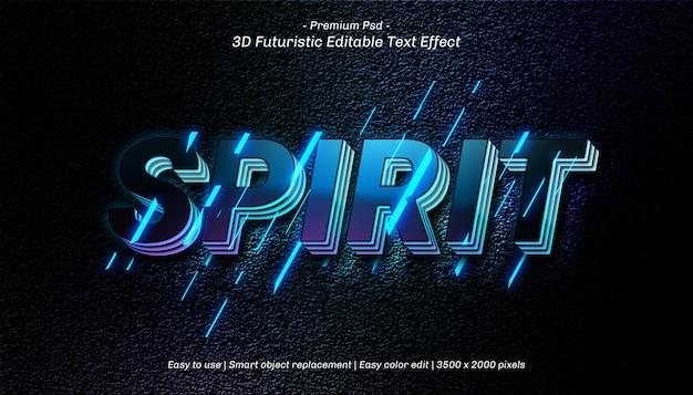 Modèle d'effet de texte 3d spirit