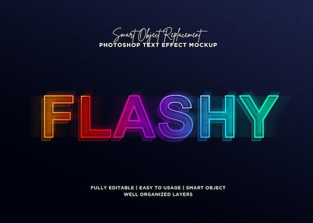 Modèle d'effet de texte 3d style flashy