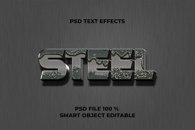 Modèle d'effet de texte en acier