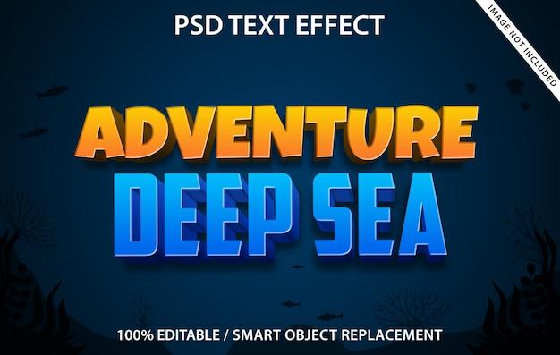 Modèle d'effet de texte adventure deep sea