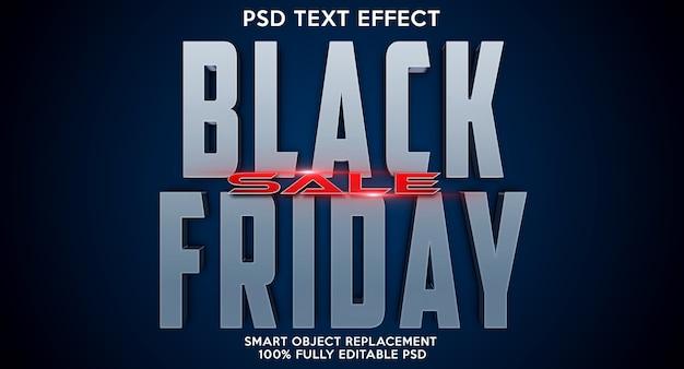 Modèle d'effet de texte black friday