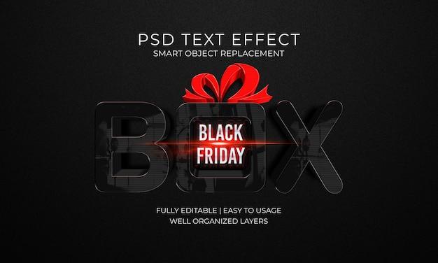 Modèle d'effet de texte box black friday