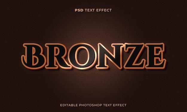 Modèle d'effet de texte en bronze 3d