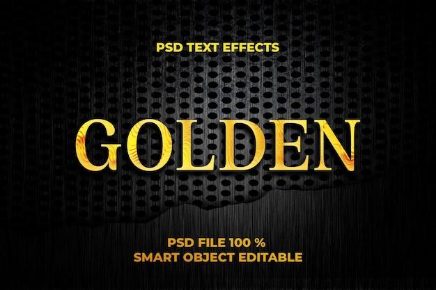 Modèle d'effet de texte doré