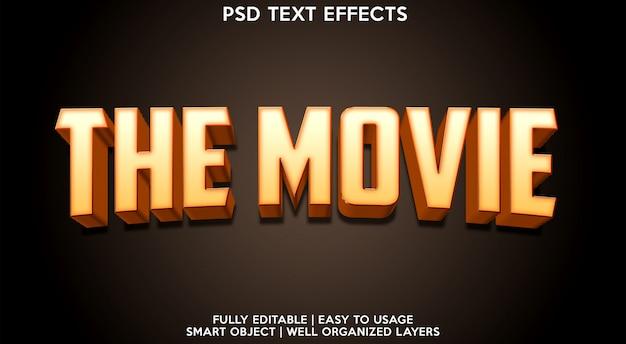 Le modèle d'effet de texte de film