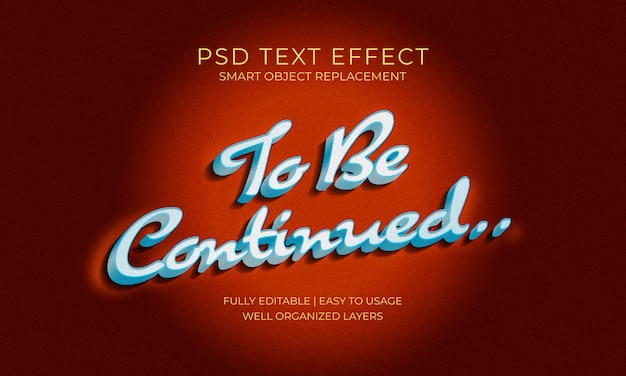 Modèle d'effet de texte de fin de film rétro