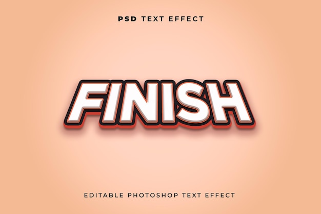 Modèle d'effet de texte de finition 3d