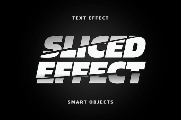 Modèle d'effet de texte de lettres en tranches