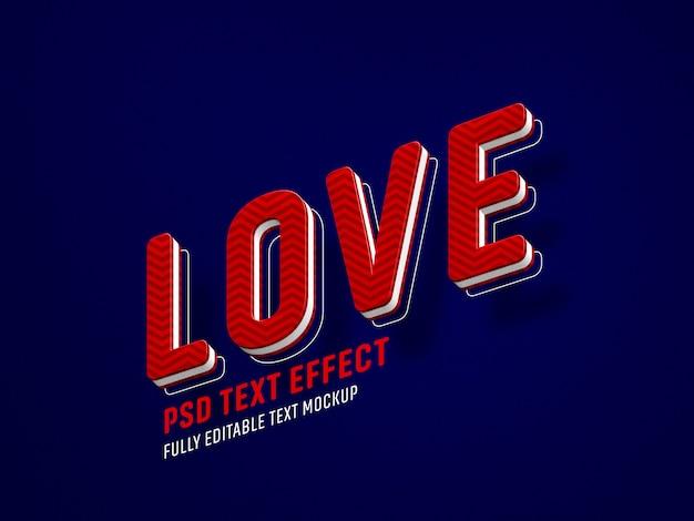 Modèle d'effet de texte love valentine