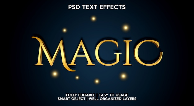 Modèle d'effet de texte magique