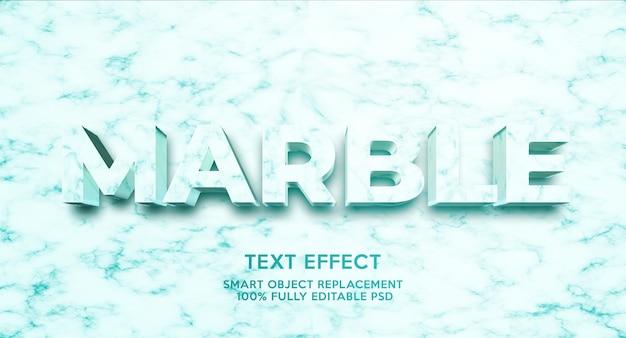 Modèle d'effet de texte en marbre