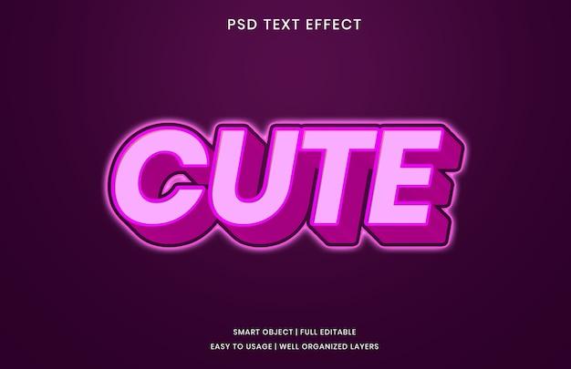 Modèle d'effet de texte mignon