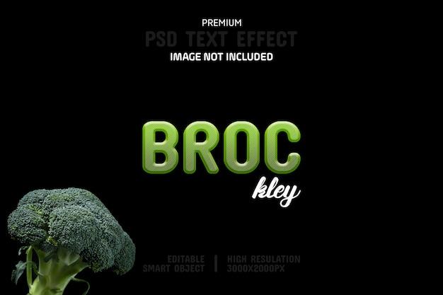 Modèle d'effet de texte modifiable brockley