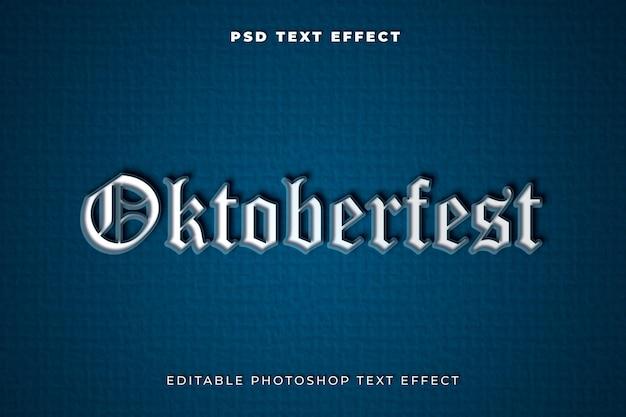 Modèle d'effet de texte oktoberfest