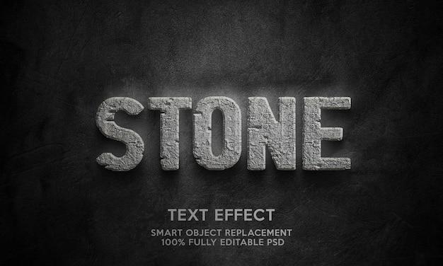 Modèle d'effet de texte en pierre