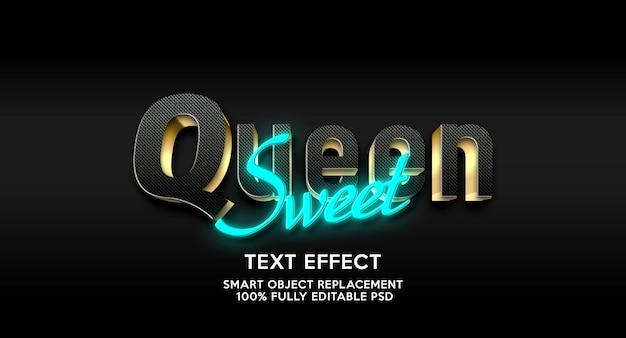 Modèle d'effet de texte reine