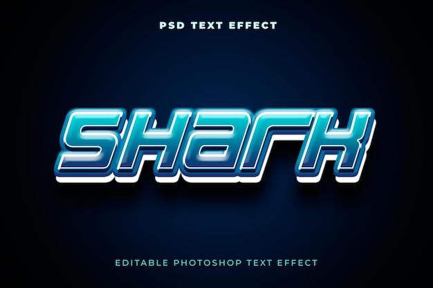 Modèle d'effet de texte de requin